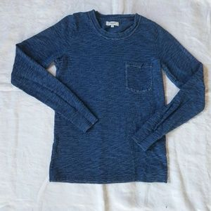 Madewell Long Sleeve Indigo Ink Tee